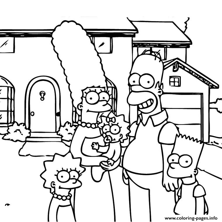 simpson coloring pages free download printable - Printable Simpsons Coloring Pages