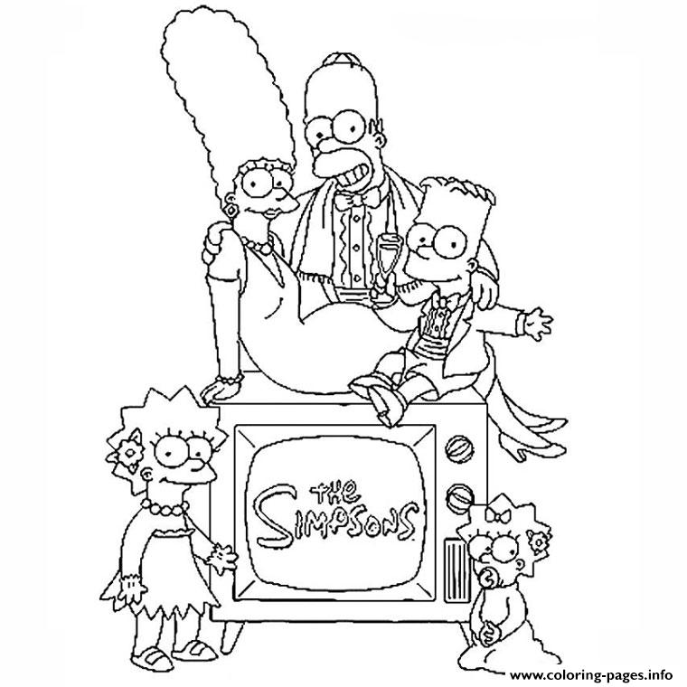 The Simpson Family Coloring Pages