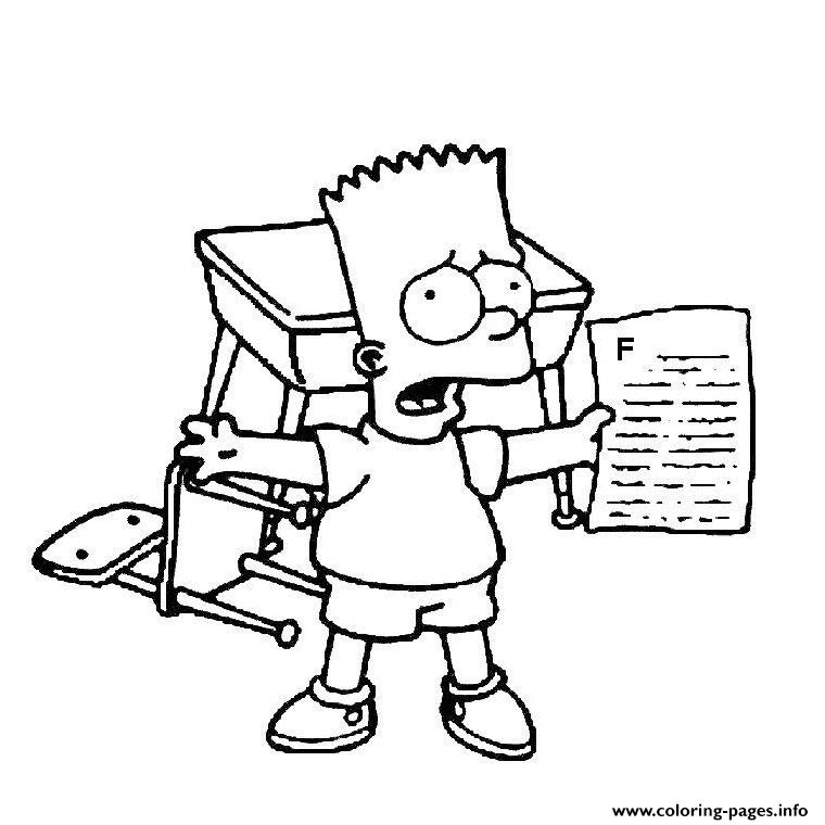 Bart Simpson Coloring Pages Printable