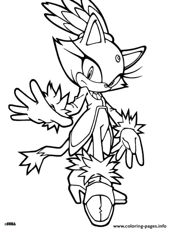 Sega Sonic Dude coloring pages