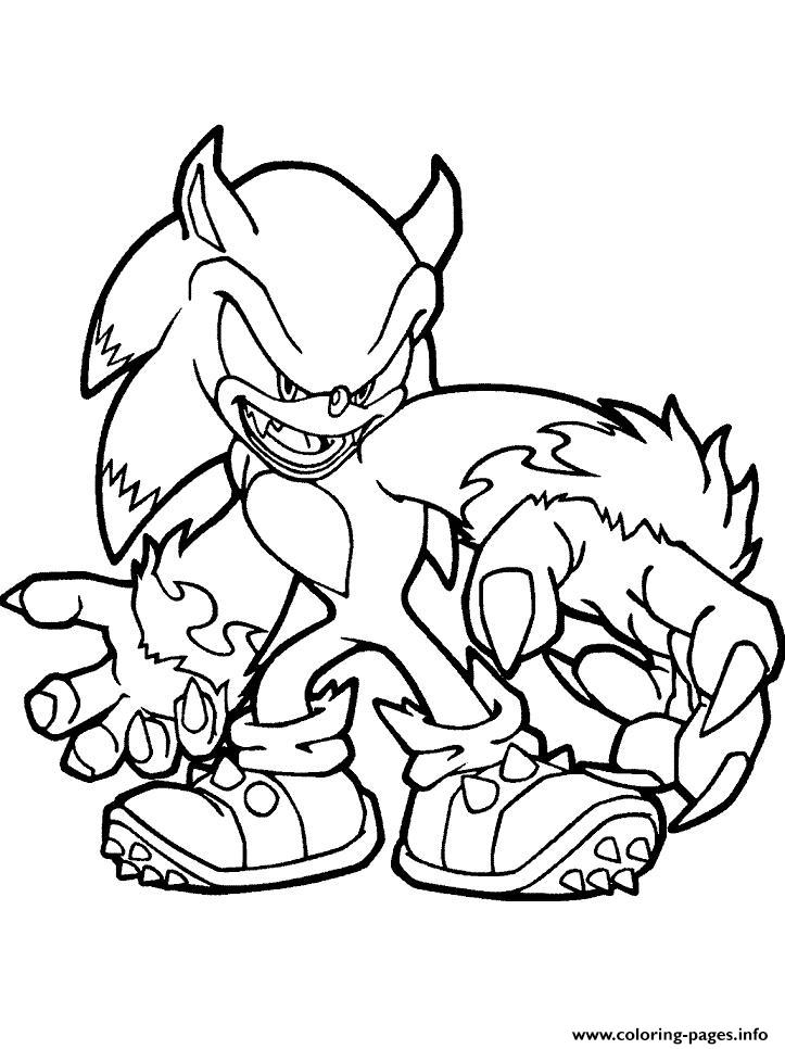 Sonic The New Monster Coloring Pages Printable