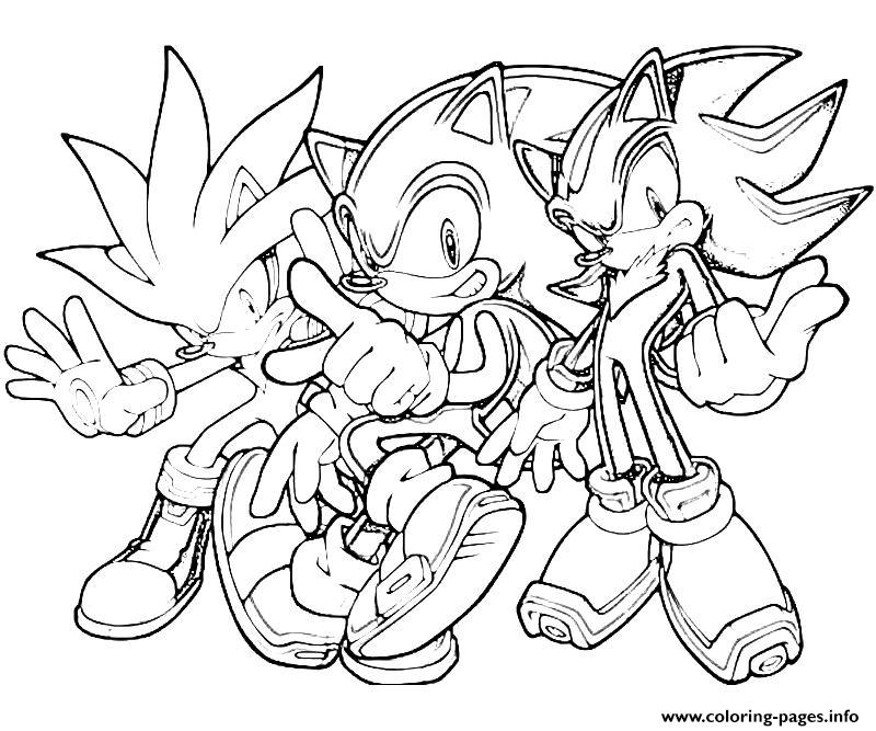 The Sonic Team Coloring Pages