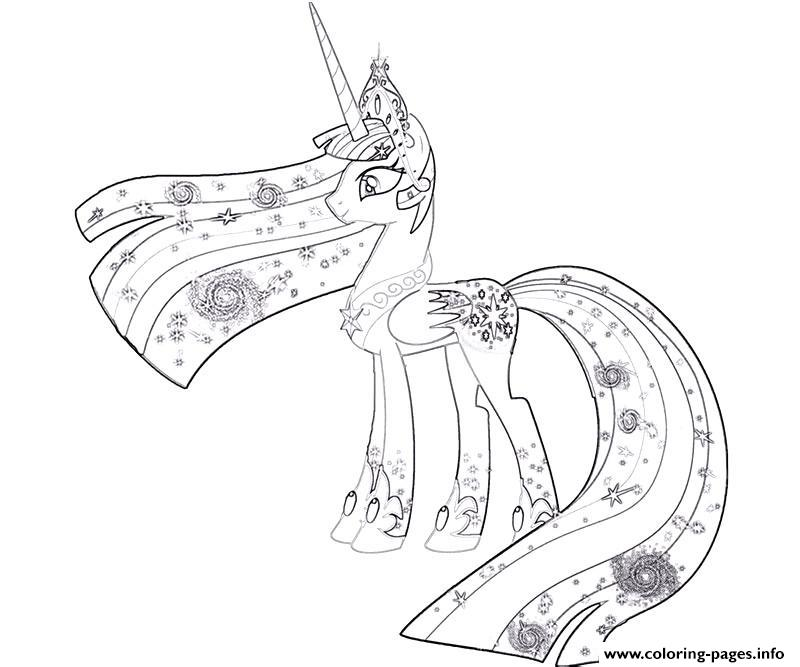 My Little Pony Princess Celestia Coloring Pages Printable