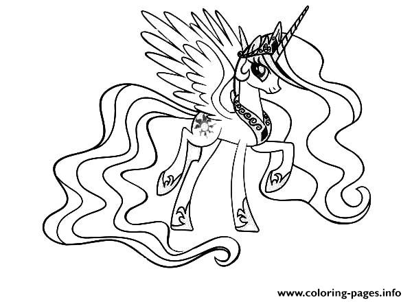 My Little Pony Cool Princess Celestia Coloring Pages
