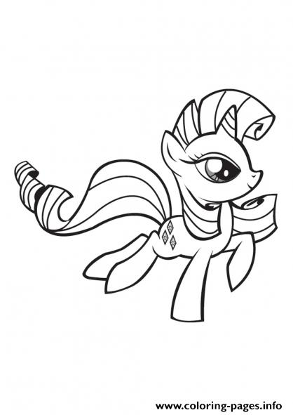 My Little Pony Rarity Coloring Pages Printable