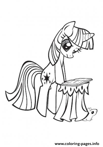 My Little Pony Twilight Sparkle Coloring Pages Printable