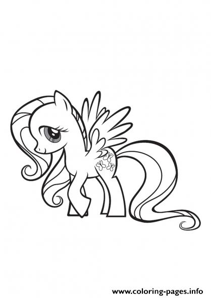 My Little Pony Fluttershy Coloring Pages Printable