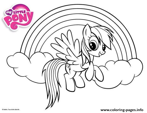 rainbow dash little pony coloring pages printable - Pony Coloring Pages