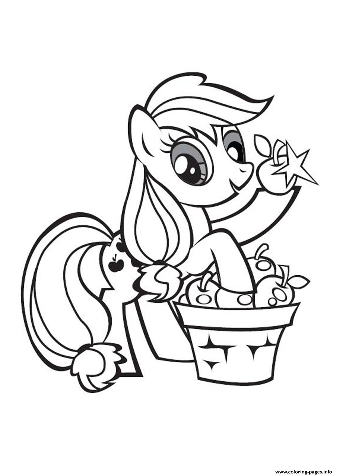 my little pony applejack stand coloring pages printable