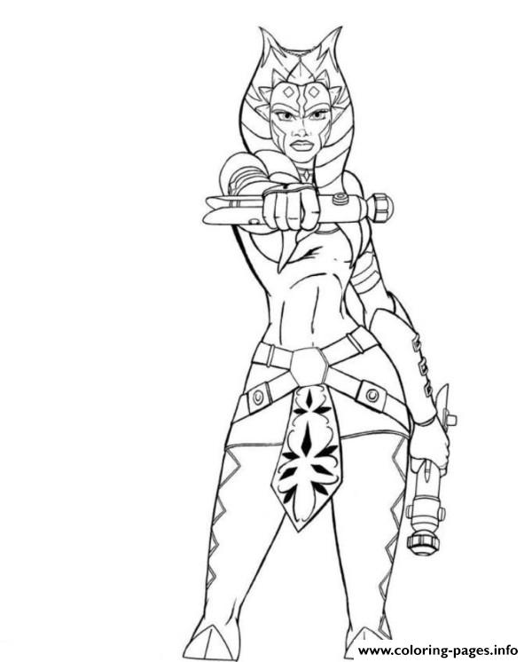 Star Wars Ahsoka Coloring Pages Printable Ahsoka Coloring Pages