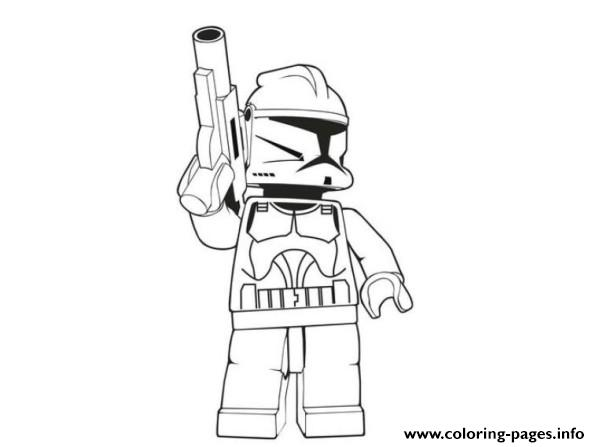 Lego Stormtrooper Star Wars coloring pages