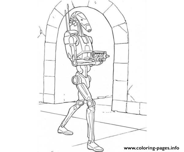 Star Wars Battle Droid Coloring Pages Printable