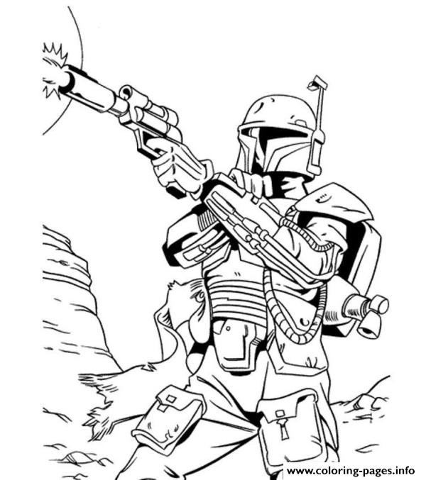 star wars bounty hunter coloring pages - Star Wars Coloring Books