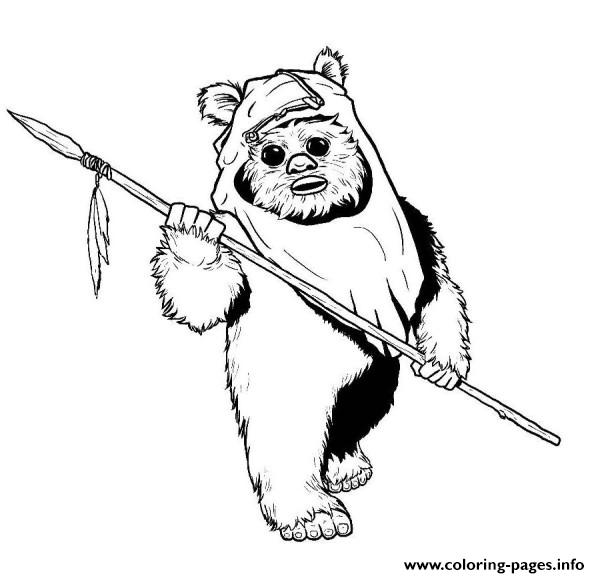 Star Wars Ewok Coloring Pages Printable