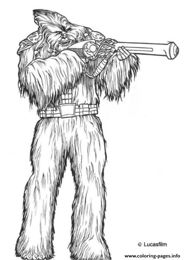 star wars wookie coloring pages