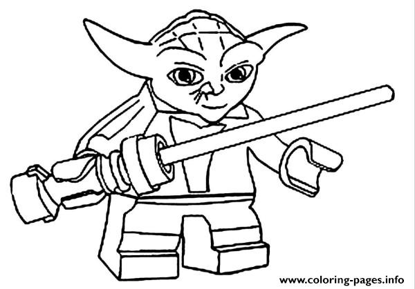 photo about Yoda Printable identified as Lego Star Wars Yoda Coloring Web pages Printable