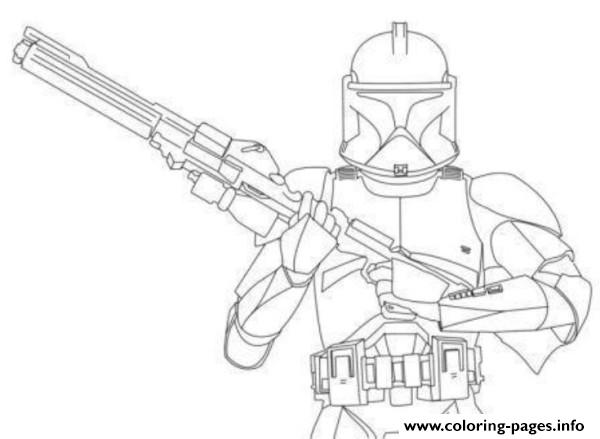 Star Wars Stormtrooper Clone Wars Coloring Pages Printable
