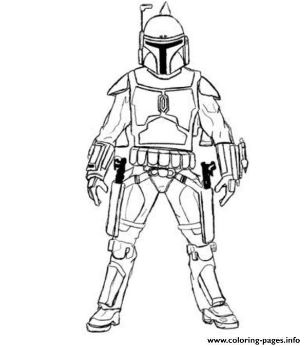 Easy Boba Fett Star Wars Coloring