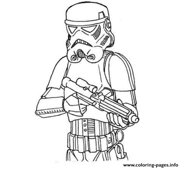 Easy Stormtrooper Star Wars Coloring Pages Printable