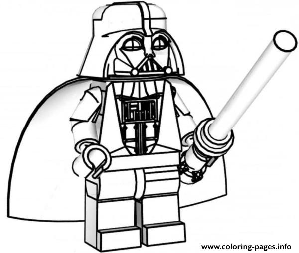 Lego Star Wars Coloring Pages Darth Vader Printable