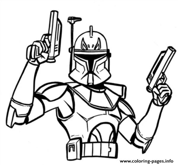 Star Wars Captain Rex Coloring Pages Printable