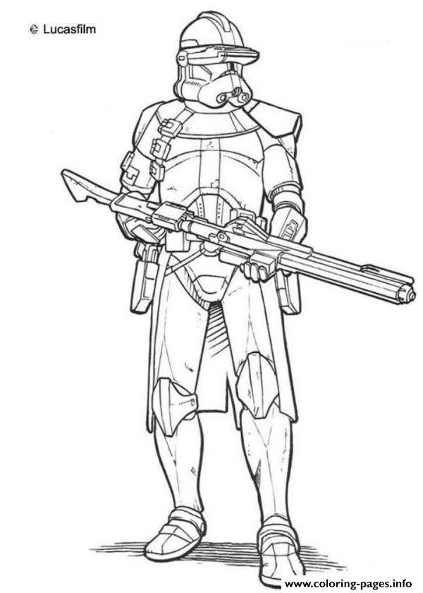 Star Wars Clone Troopers Coloring Pages Printable
