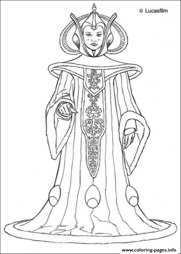 star wars queen amidala coloring pages