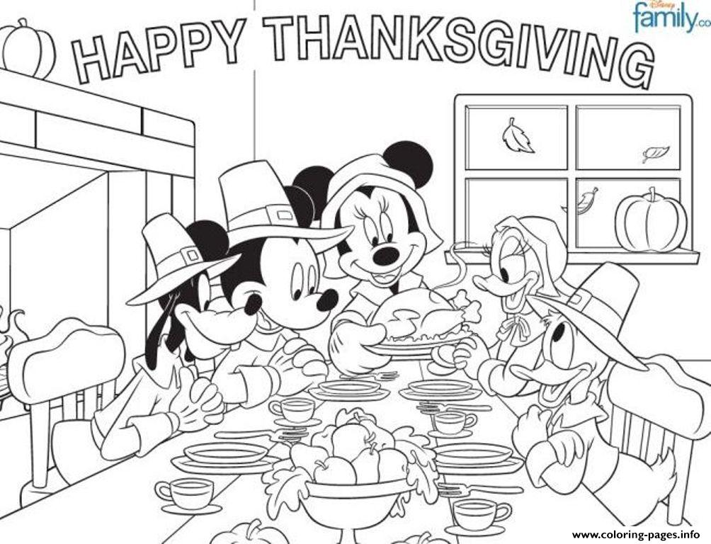 Disney Thanksgiving Coloring Page For Kidsefec coloring pages