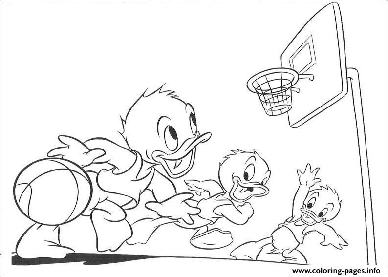 Disney Cartoon Basketball C1e1 Coloring Pages Printable