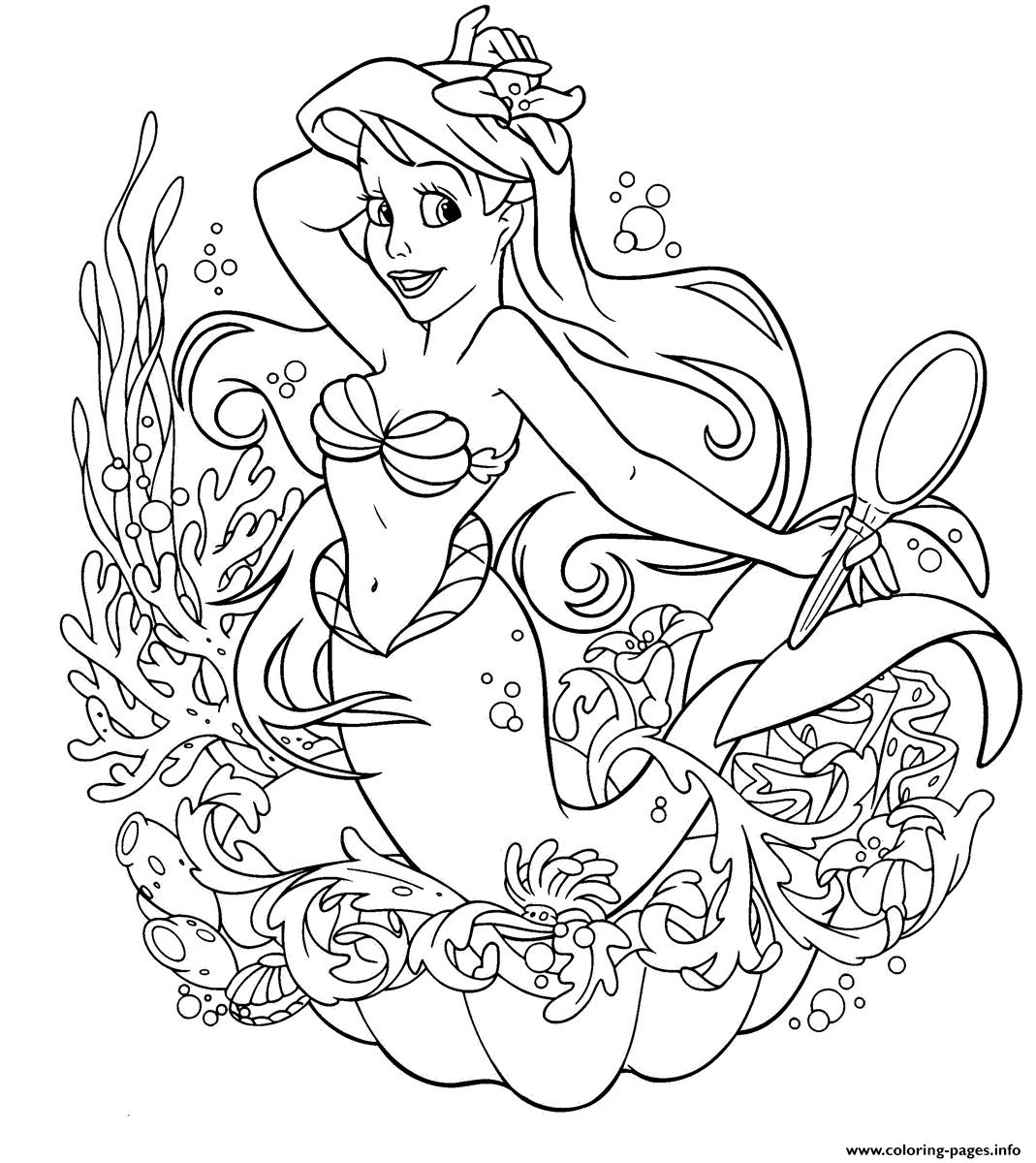 Ariel  For Girls Disney Princessc4d2 coloring pages