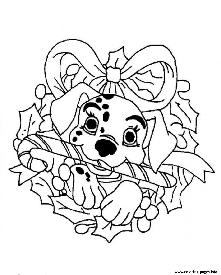 Dalmation Disney For Christmas Coloring Pagebd67 Coloring