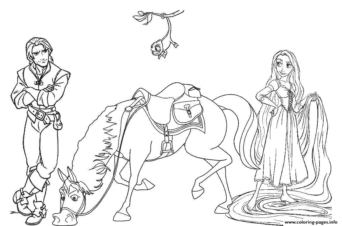 Tangled Disney Horse E4fe coloring pages