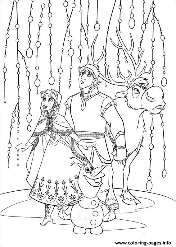 Frozen 13 coloring pages