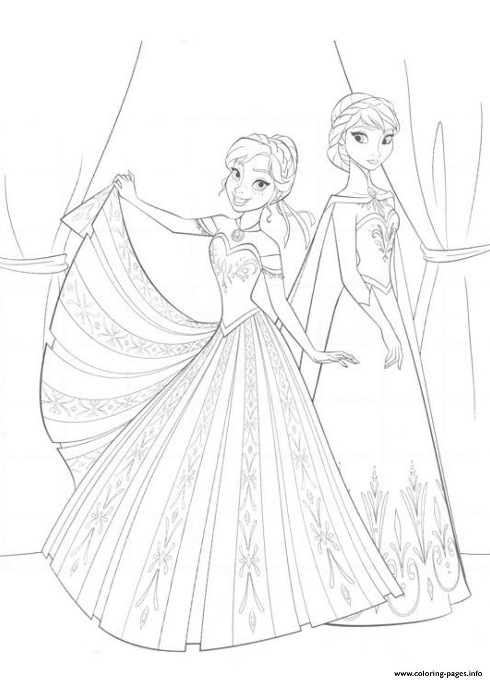 Princess Frozen 3e69 coloring pages