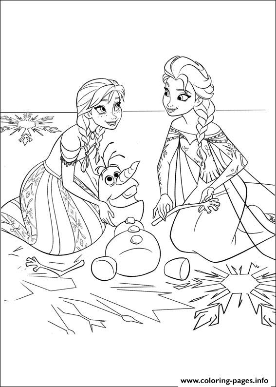 frozen 25 coloring pages