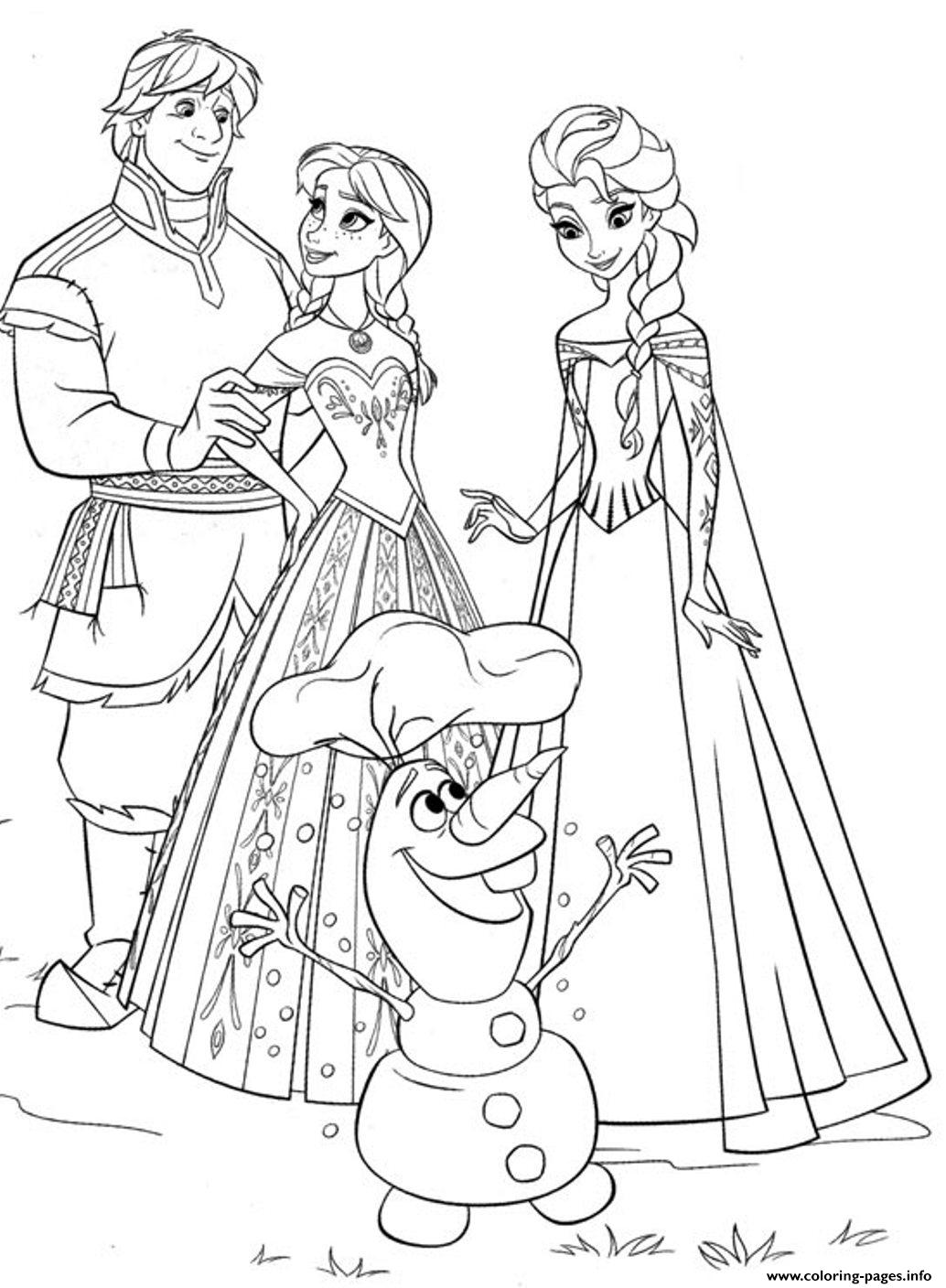 Frozen Family4eec coloring pages