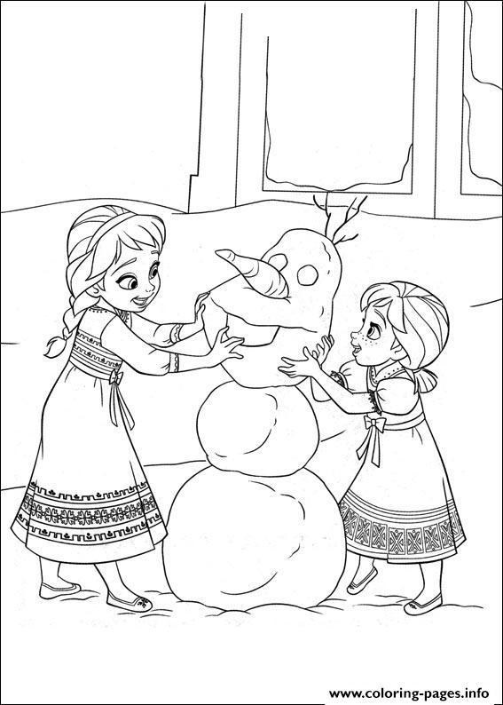 Frozen 02 coloring pages