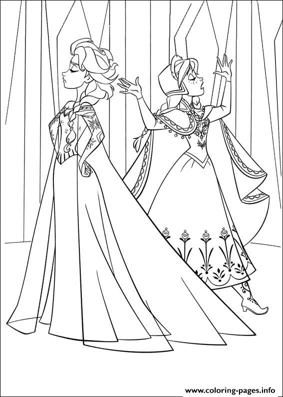 Frozen 16 coloring pages