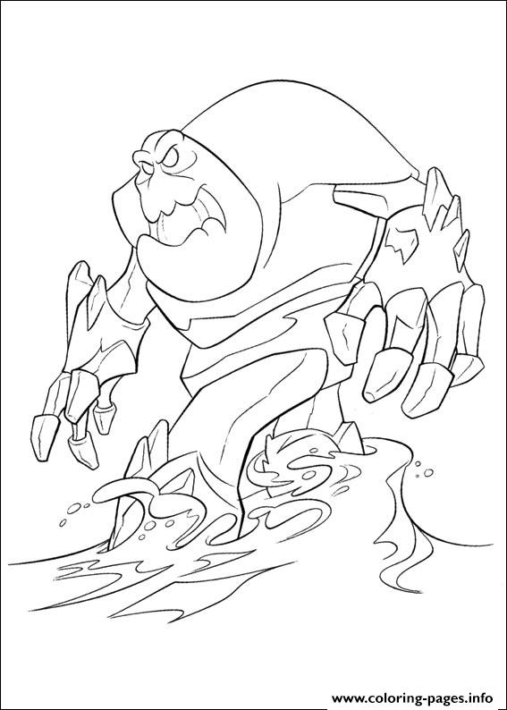 Marshmallow Enchanted Snow-monster coloring pages