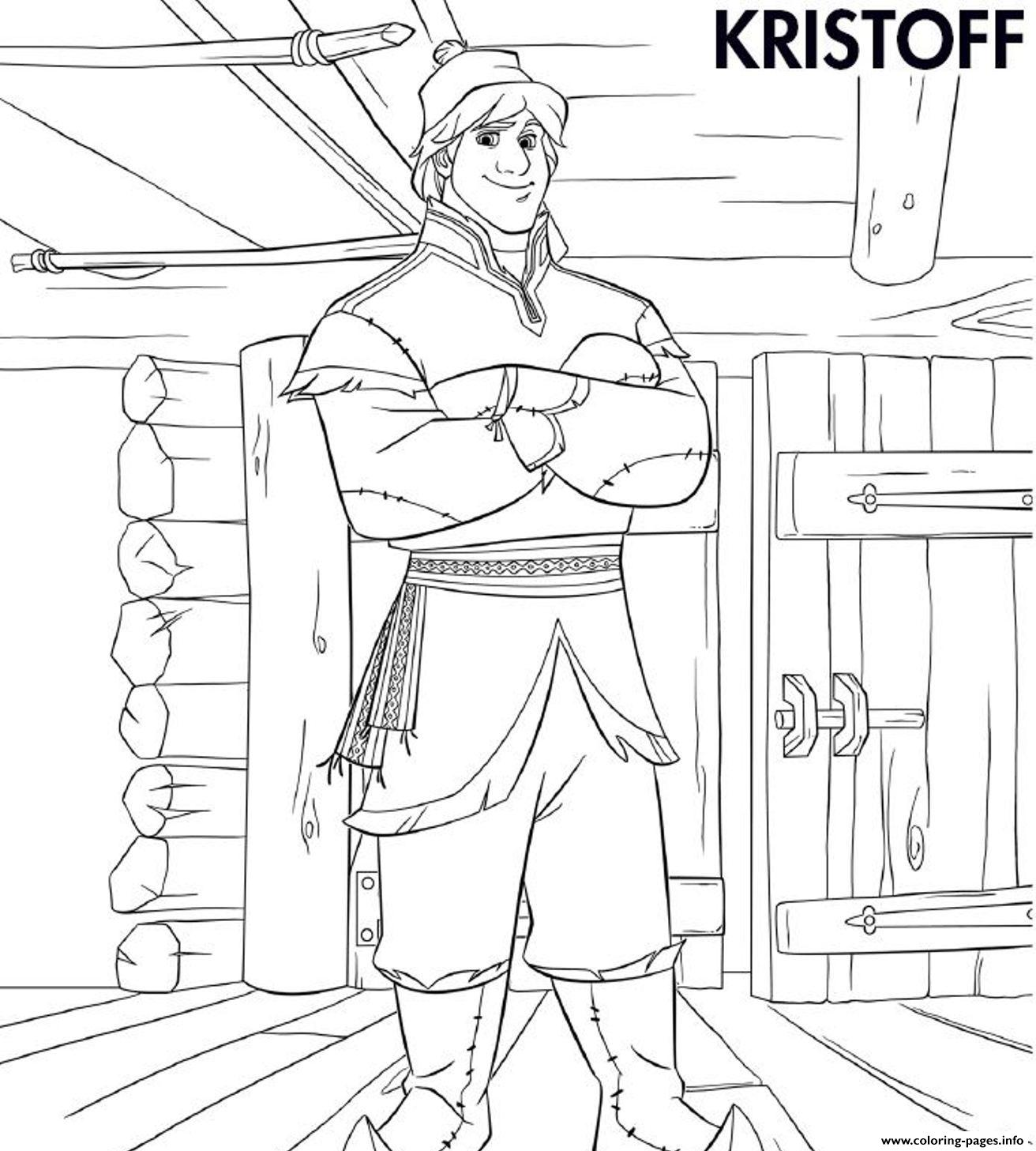 Kristoff Frozen D1f2 coloring pages