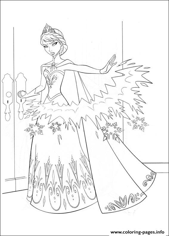 Frozen 10 coloring pages