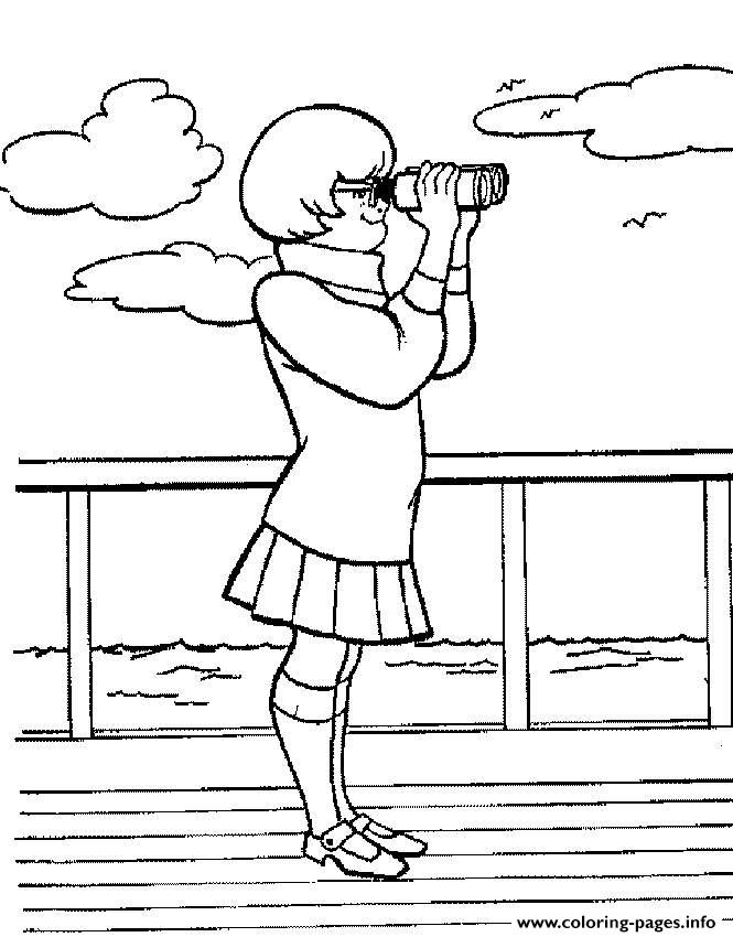 Velma Spying Scooby Doo 711b coloring pages