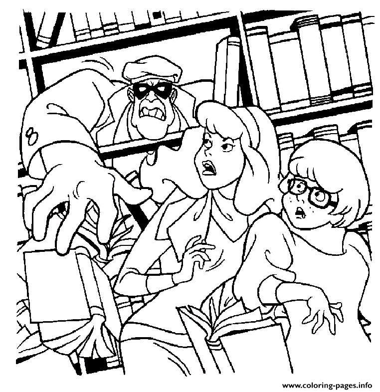 A Rubber Attacks Daphne Scooby Doo 2c1d coloring pages