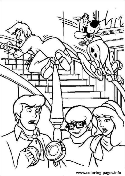 Shaggy And Scooby Sliding 2ea1 coloring pages