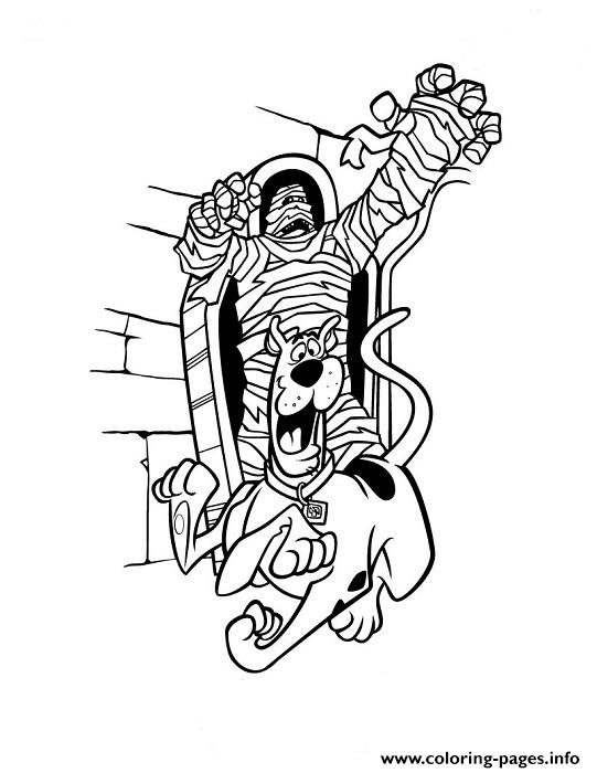 scooby chased by mummy fb4b Coloring pages Printable