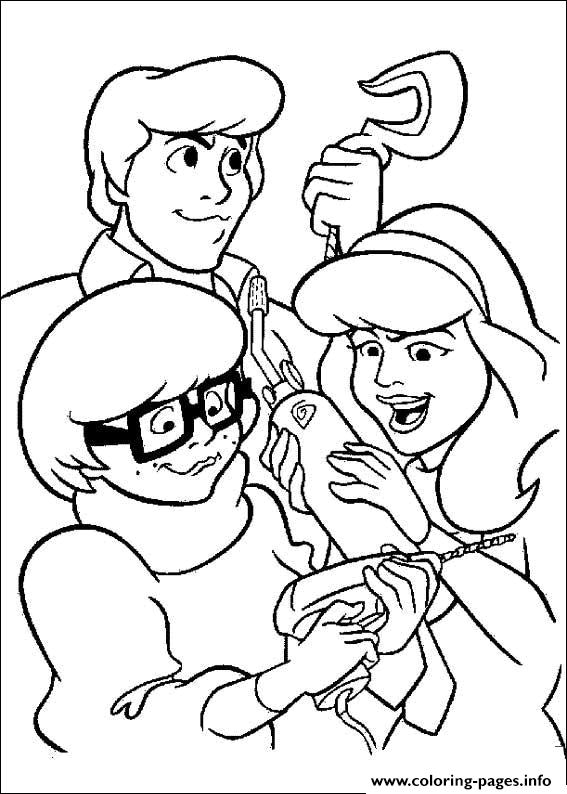 Velma Got An Idea Scooby Doo Fd16 Coloring Pages Printable
