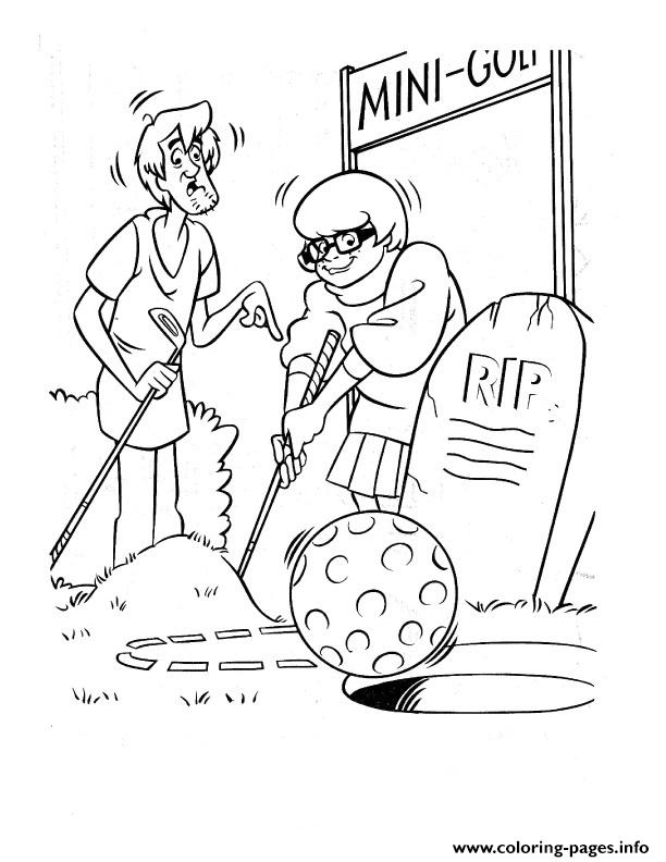 Velma And Shaggy Playing Golf Scooby Doo 429f coloring pages