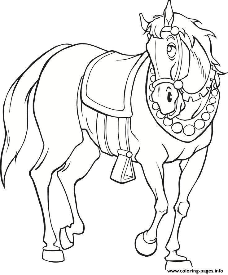 Medieval Horse S Freec655 Coloring Pages