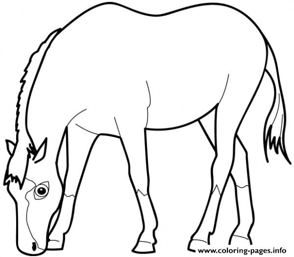 Horse Eating Saf3d coloring pages