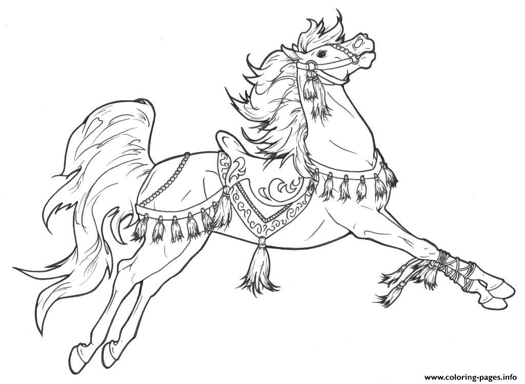 Beautiful Horse S5761 coloring pages
